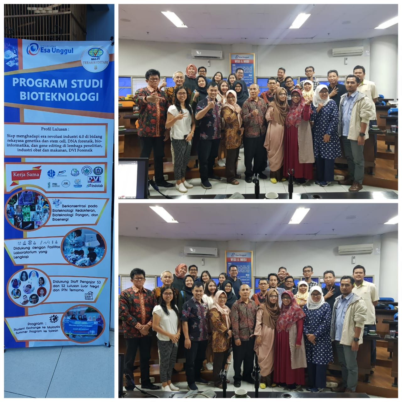 Indonesia Biotechnology Consortium Committee and Members Meeting at Universitas Indonesia Esa Unggul
