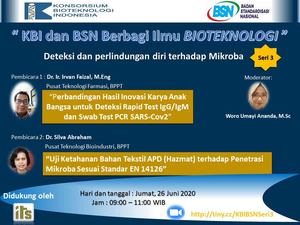 "Webinar ""IBC and BSN Knowledge Sharing on Biotechnology"" 3rd Series – ""Detection and Self-protection Against Microbes"""